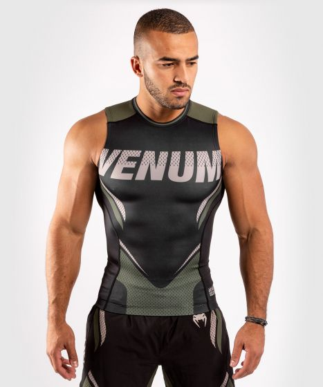 Venum ONE FC Impact Rashguard - sleeveless - Black/Khaki