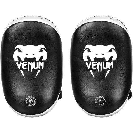 Venum Kick Pads Leather-Black/White