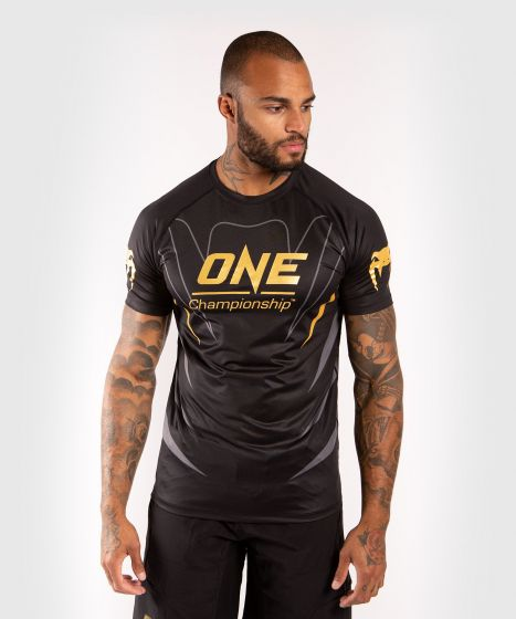 Venum x ONE FC Dry Tech T-shirt - Black/Gold