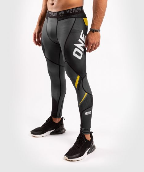 Venum ONE FC Impact Compresssion Tights - Grey/Yellow