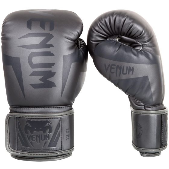 Venum Elite Boxing Gloves - Grey/Grey