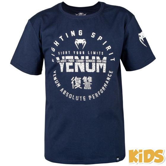 Venum Signature Kids T-shirt - Navy Blue