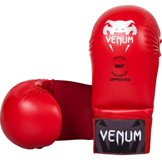 Venum Karate Mitts - Without Thumb Protection  - Red