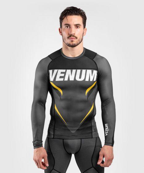 Venum ONE FC Impact Rashguard - long sleeves - Grey/Yellow