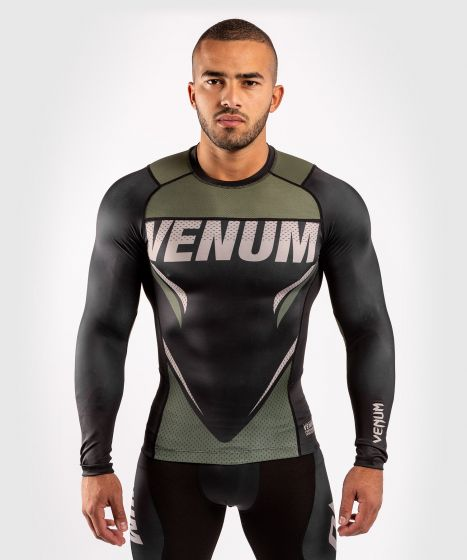 Venum ONE FC Impact Rashguard - long sleeves - Black/Khaki