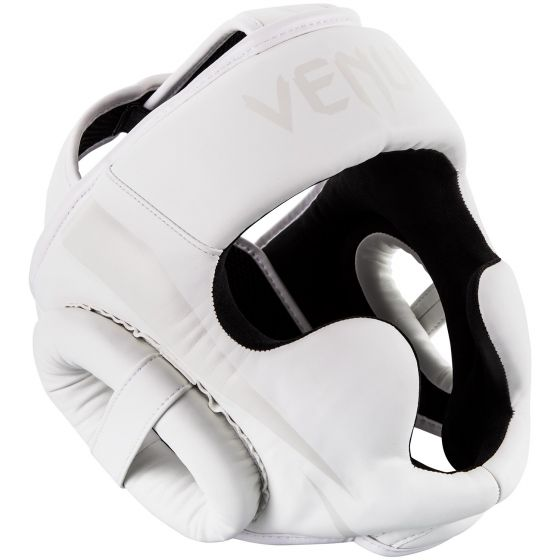 Venum Elite Headgear - White/White - Taille Unique