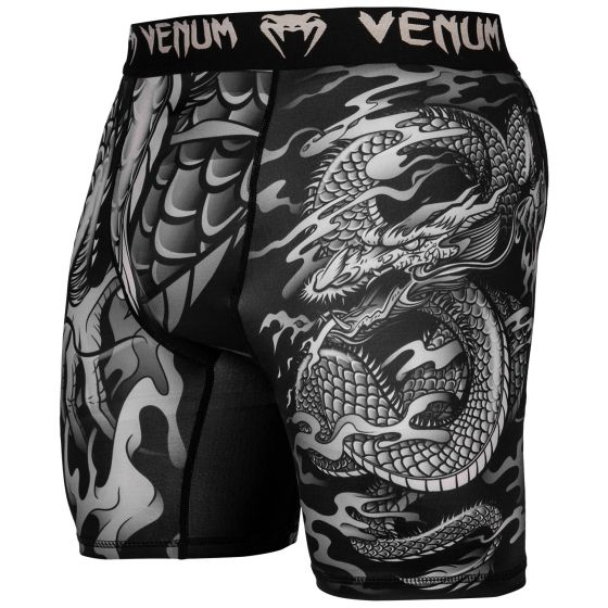 Venum Dragon's Flight Compression Shorts - Black/Sand