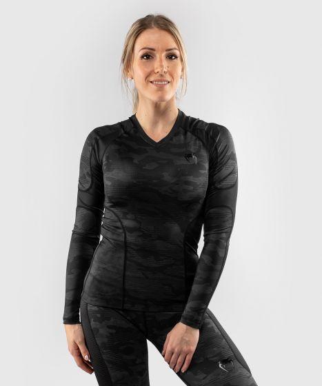 Venum Defender long sleeve Rashguard - for women - Black/Black