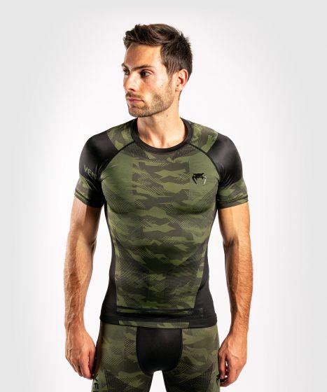Venum Trooper Rashguard - Short sleeves - Forest camo/Black