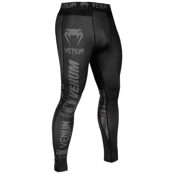 Venum Logos Tights - Black/Black