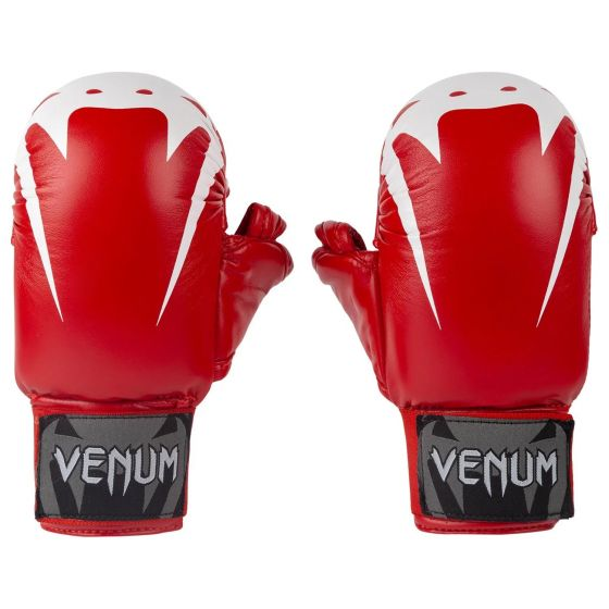 Venum Giant Karate Mitts - With Thumbs  - Red