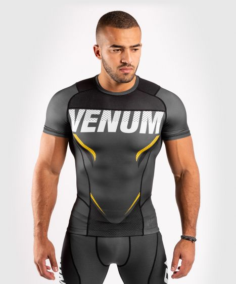 Venum ONE FC Impact Rashguard - short sleeves - Grey/Yellow