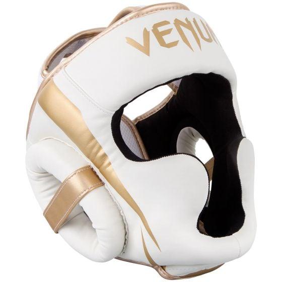 Venum Elite Headgear-White/Gold