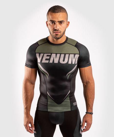 Venum ONE FC Impact Rashguard - short sleeves - Black/Khaki