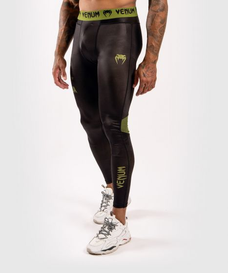 Venum Boxing Lab Compression Tights - Black/Green