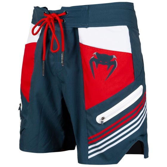 Venum Cargo Boardshorts - Dark blue/Raspberry-White