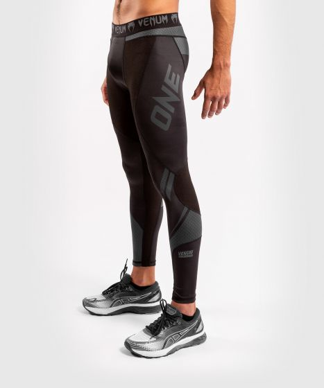 Venum ONE FC Impact Compresssion Tights - Black/Black