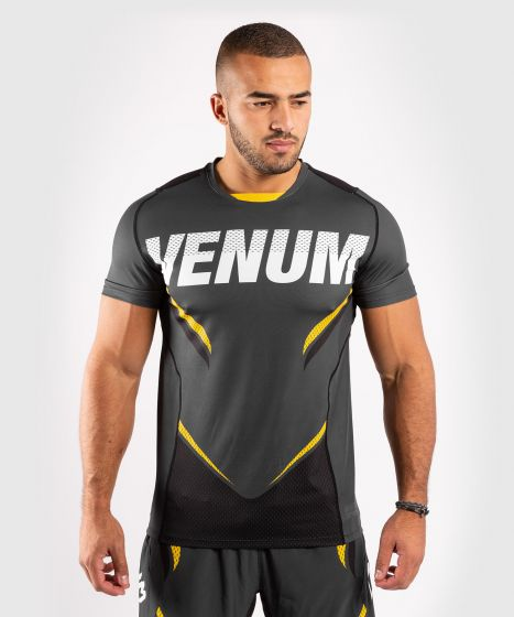 Venum ONE FC Impact Dry Tech T-Shirt - Grey/Yellow