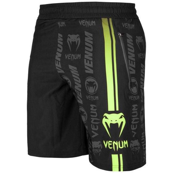 Venum Logos Training Shorts - Black/Neo Yellow