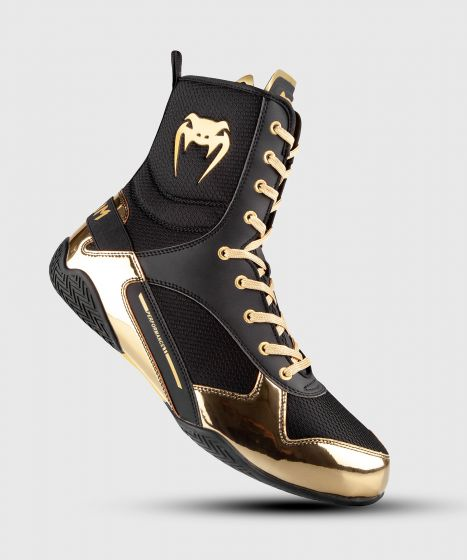 Venum Elite Boxing Shoes - Black/Gold