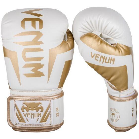 Venum Elite Boxing Gloves - White/Gold