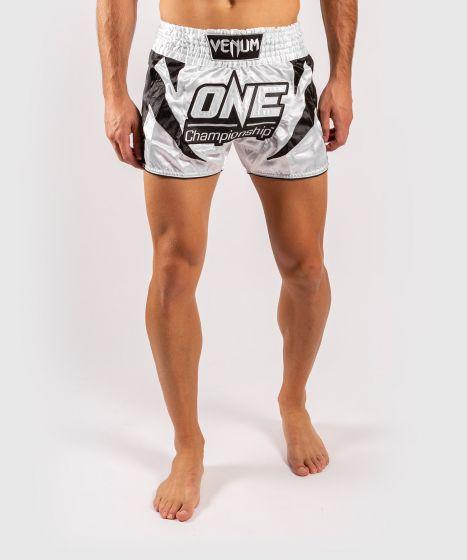 Venum x ONE FC Muay Thai Shorts - White/Black