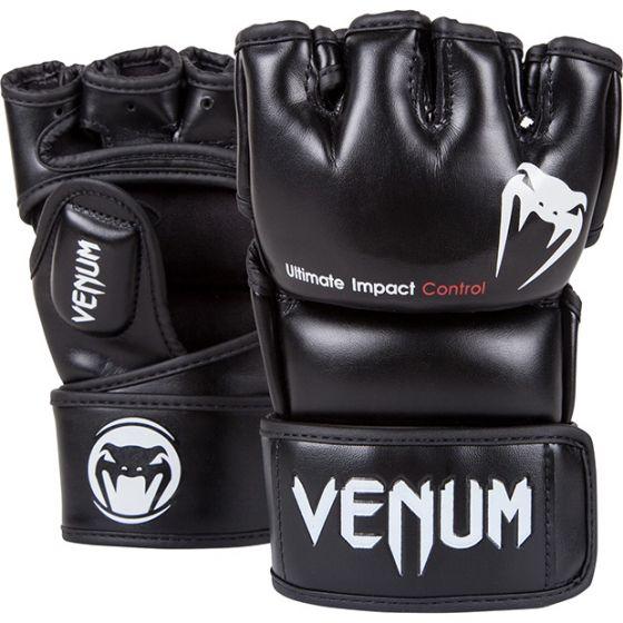 Venum Impact MMA Gloves - Skintex Leather - Black