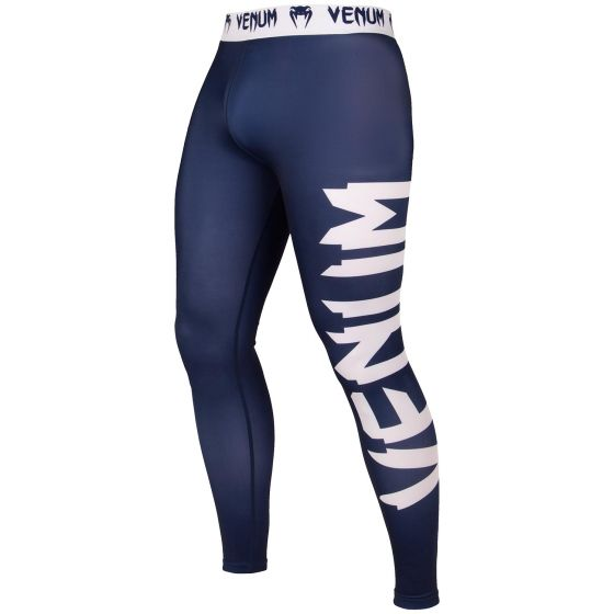 Venum Giant Compresssion Tights - Navy Blue/White